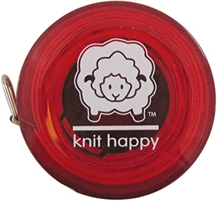 Knit Happy Tape Measure-Red