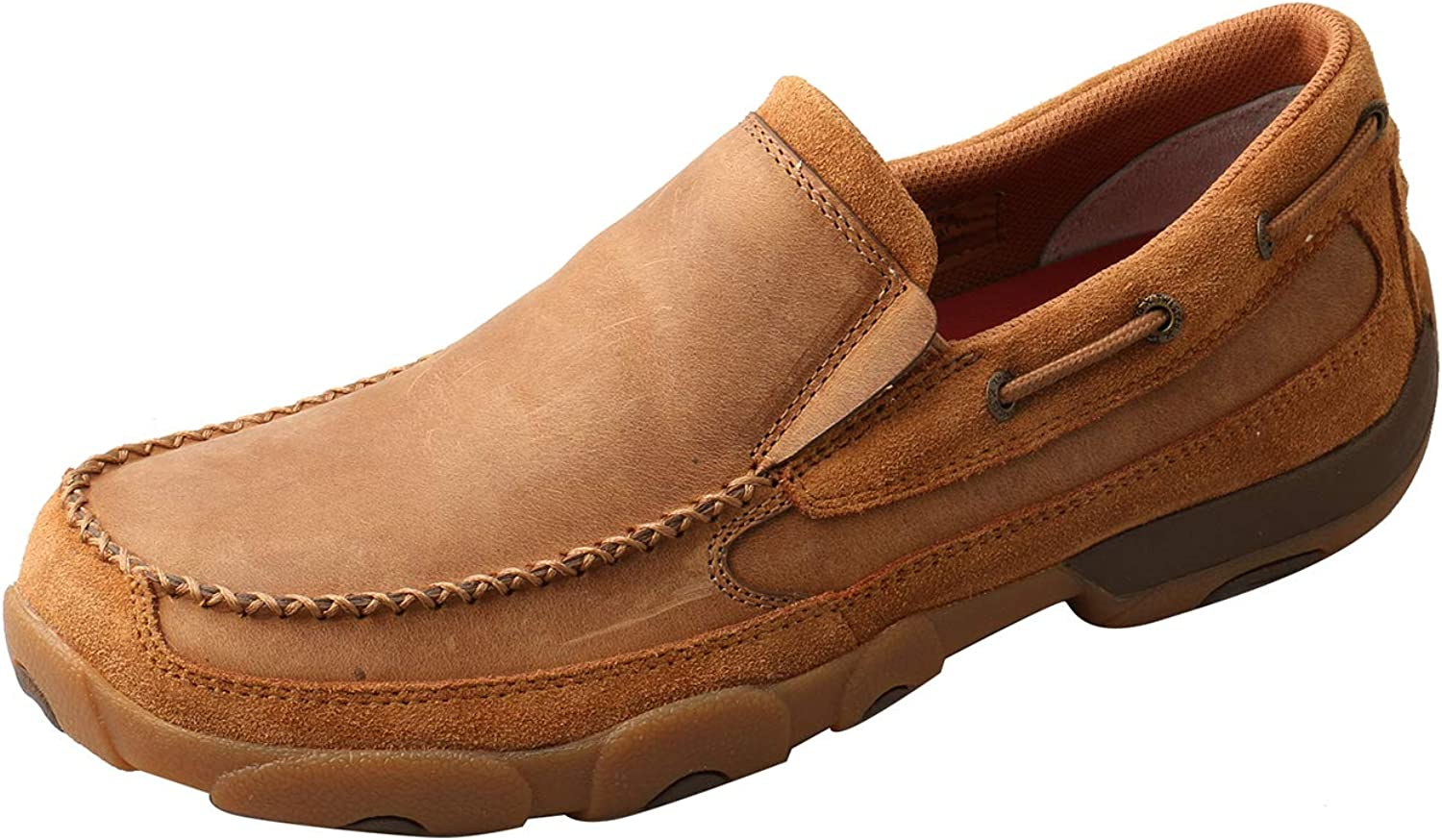 Mdms017 Twisted X Mens Basket Weave Slip-On Shoes Moc Toe