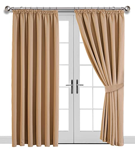Curtains & Pelmets Curtains & Blinds Bright Oxford Check Lined Curtains Tiebacks Pair Brand New