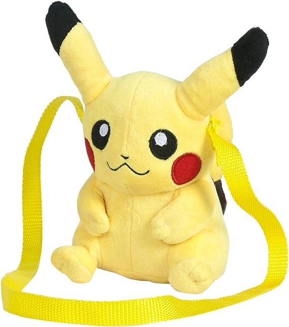 Famosa Softies - Pokèmon Bolso, peluche Pikachu, 15 cm, color amarillo (Famosa 760015203): Amazon.es: Juguetes y juegos
