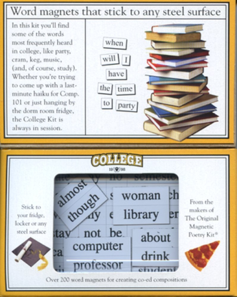 Amazon Magnetic Poetry College Kit Words For Refrigerator