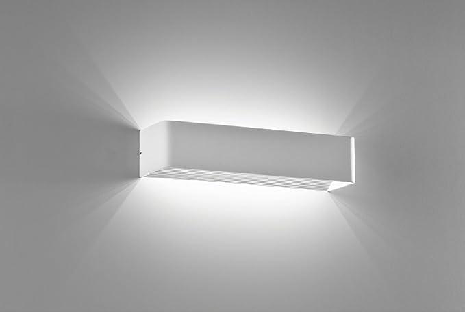 Applique bianco lampada a parete led w k rettangolare design