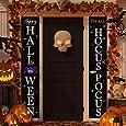 Dazonge Halloween Decorations Outdoor   Halloween Porch Banners for Front Door Decor   Hocus Pocus Decorations   Halloween Porch Signs