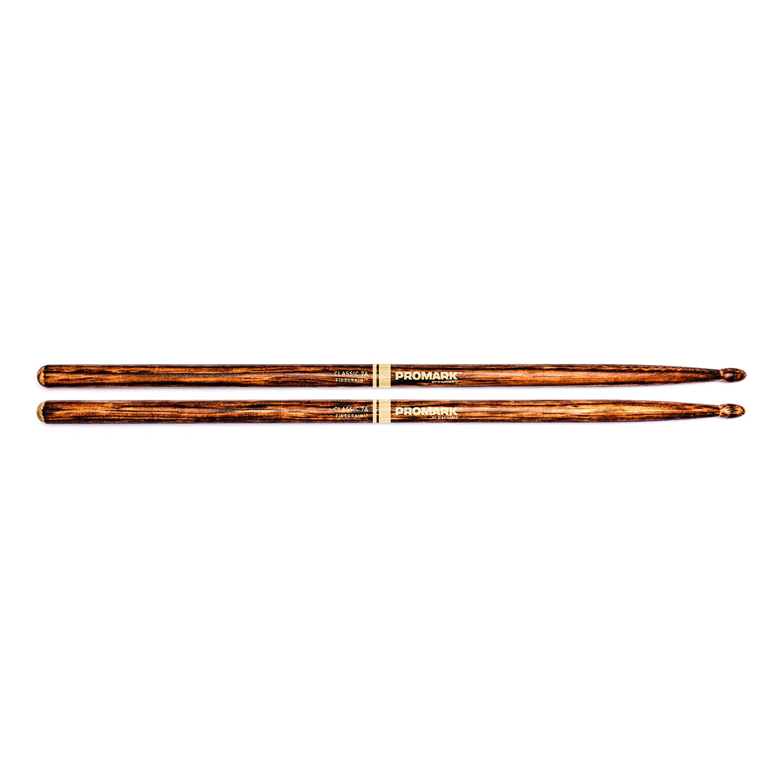 Promark TX5AW-FG FireGrain Classic 5A Drumsticks, Oval Tip D'Addario &Co. Inc