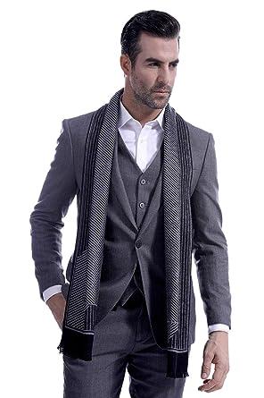 e6e64928d5e Men Business Striped Warm Scarves Long Classic Pattern Cashmere-like Scarf  Stylish Casual Men Neckerchief