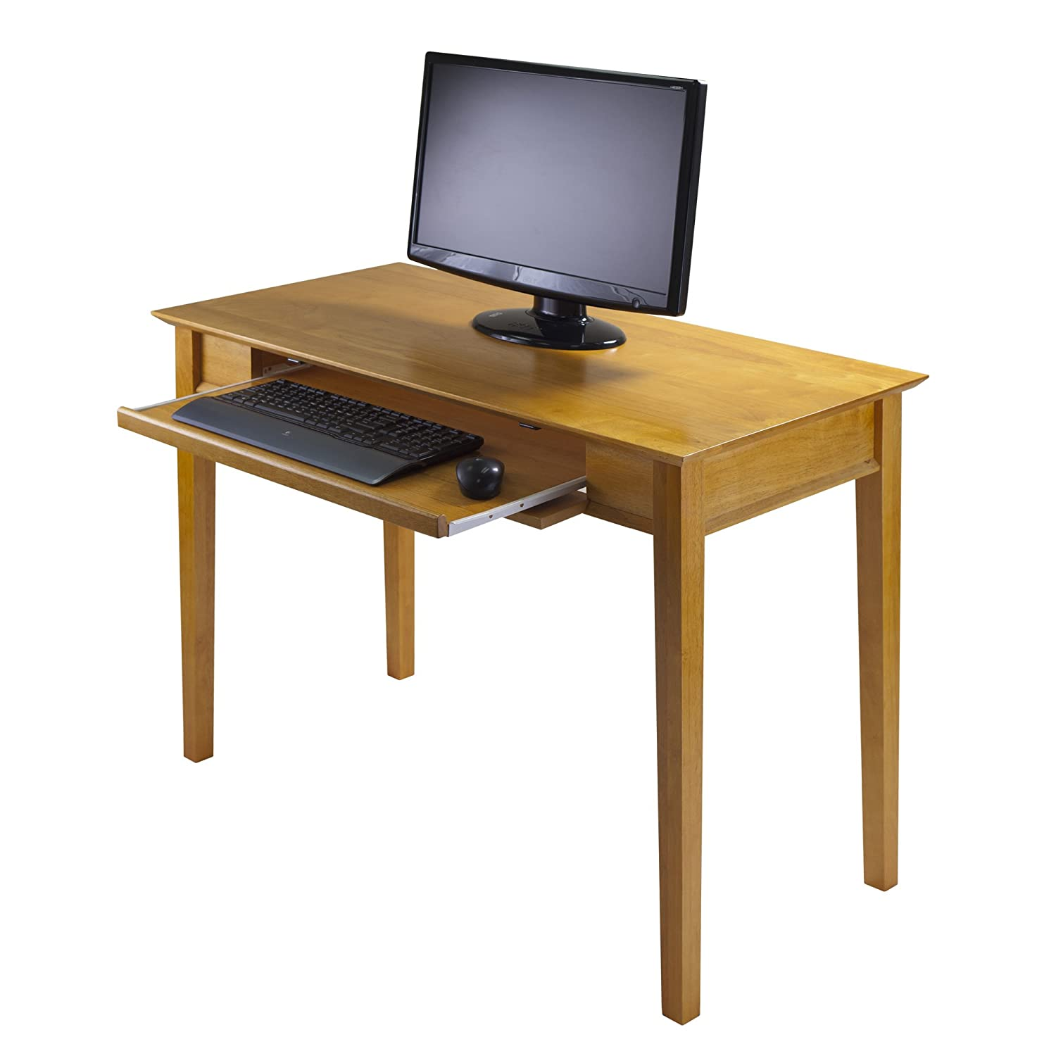 Winsome Wood Computer Desk Honey Amazonca Home Kitchen