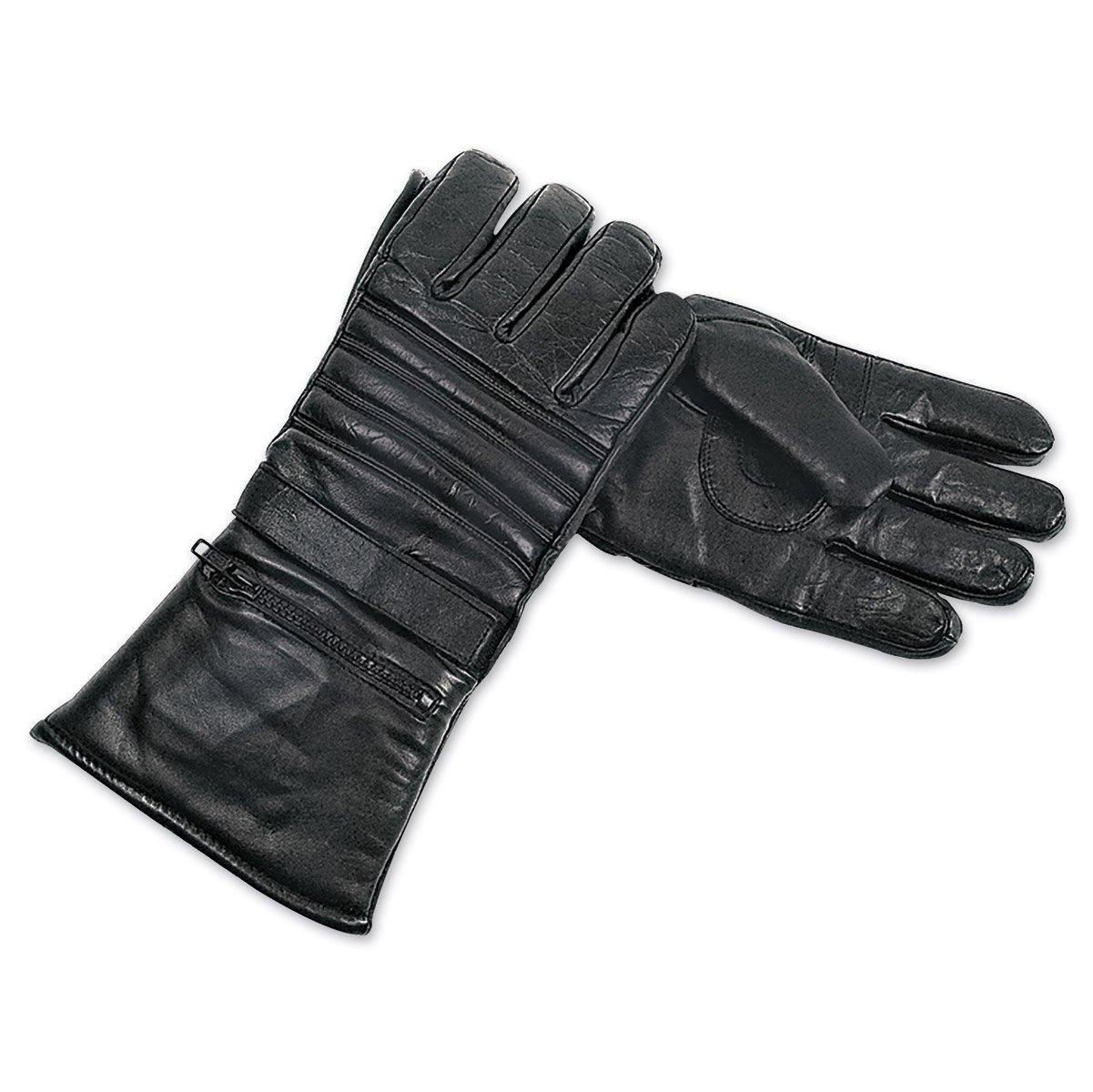 Interstate Leather Men's Basic Gauntlet Gloves (Black, X-Large)
