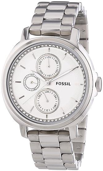 Fossil ES3355 - Reloj de pulsera mujer, acero inoxidable, color plateado: Amazon.es: Relojes
