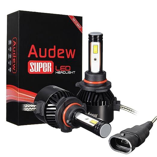 58 opinioni per Audew LED COB Auto 8000LM 6000K Faro Bulbi Faro Della Luce Delle Lampadine