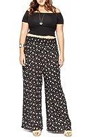 Women's Fashion Wide Leg Flare Comfy Floral Palazzo Pants USA Plus Size