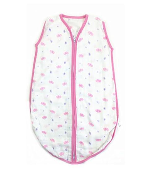 SOGNATORI - Saco de dormir para bebé (100% algodón, muselina) rosa rosa