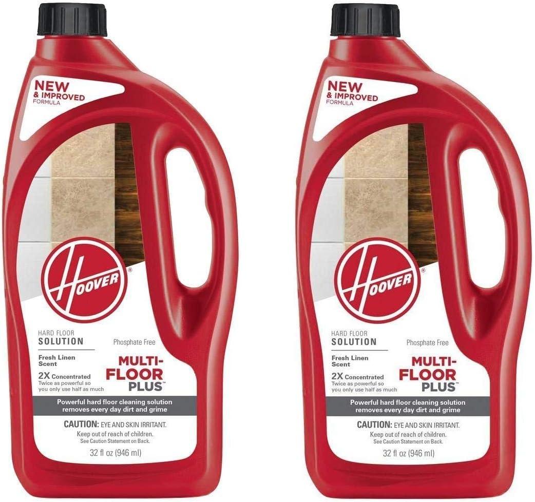 Hoover Multi-FLOORPLUS 2X Concentrated 32 Oz Hard Floor Cleaner Solution - AH30425 (Pack of 2)