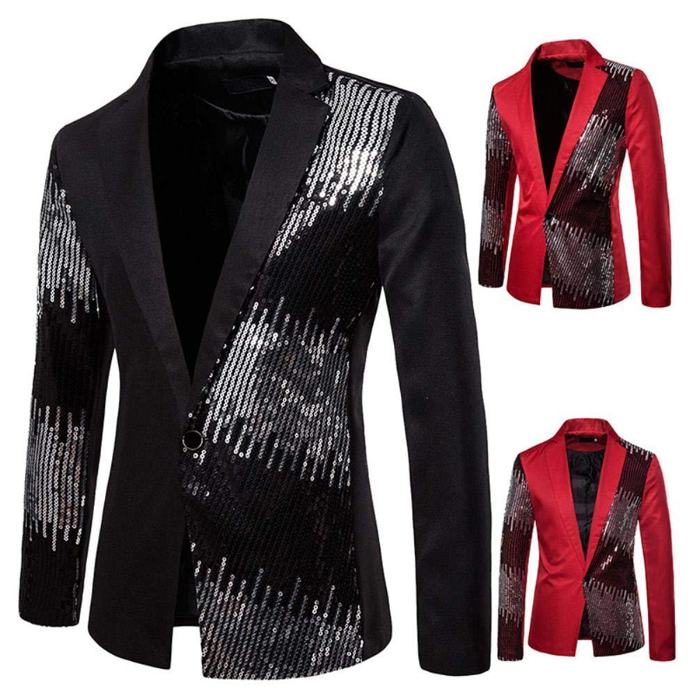 QXPORV Suit Blazer Jacket Traje de Hombre Traje de Dos Colores con ...
