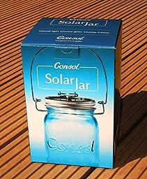 sonnenglas solarlampe im einmachglas mit henkel u 4 leds beleuchtung. Black Bedroom Furniture Sets. Home Design Ideas