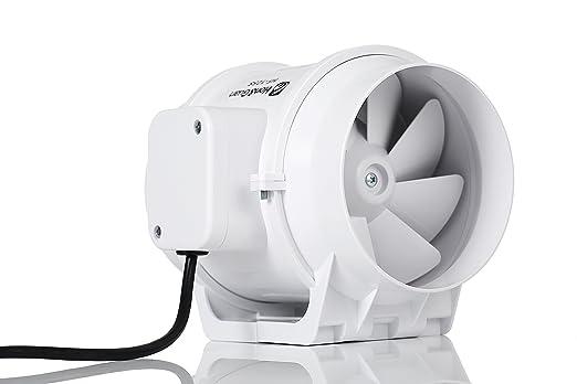 Hon&Guan Abluftventilator Hochleistungs Inline Rohrventilator ...