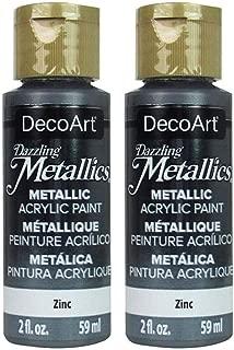 product image for 2-Pack - DecoArt Dazzling Metallics Acrylic Colors - Zinc 2-Ounces Each