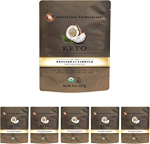 Functional Formularies Ketogenic Meal Replacement Supplement, Add to Your Recipes for Perfectly Balanced Keto Organic Nutrition, 6 Pack