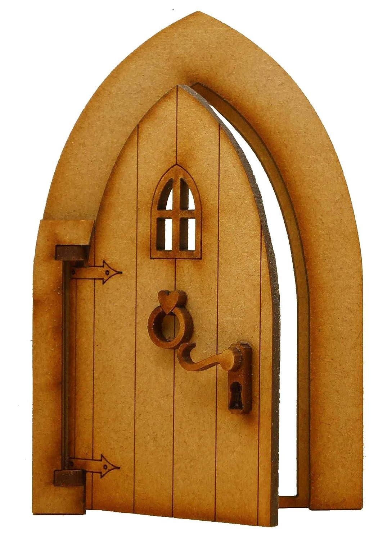 CIRCULAR FAIRY DOOR CUT FROM SOLID OAK IN THE STYLE OF A HOBBIT DOOR
