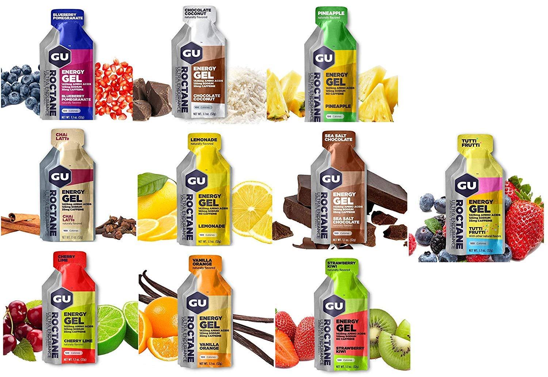 GU Energy Roctane Variety 10 Flavors Ultra Endurance Energy Gel HIGH Intensity Aminos Caffeine Electrolytes by GU ENERGY ROCTANE