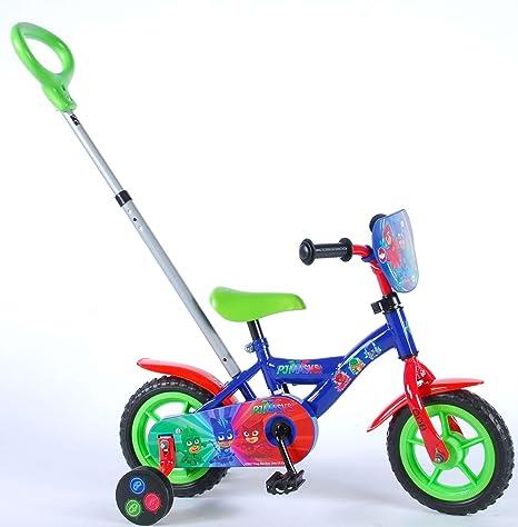 Bicicleta Infantil Chico Niño PJMasks 10 Pulgadas con Ruedas Rojo ...