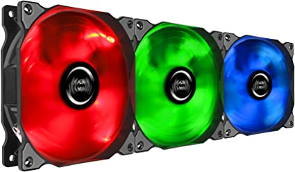 Mars Gaming MFRGBKIT, pack 3 ventiladores para PC, iluminación LED ...
