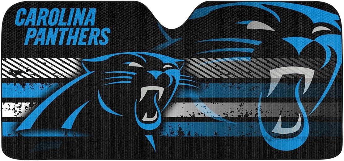 Amazon Com Fanmats Nfl Carolina Panthers Universal Auto Shade Large Black 60046 27 5 X 58 Sports Outdoors
