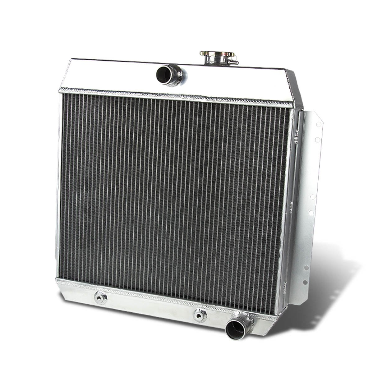 For Chevy V8 Conversion Mt Full Aluminum 3 Row Racing 1949 Truck Engine Swap Radiator Automotive