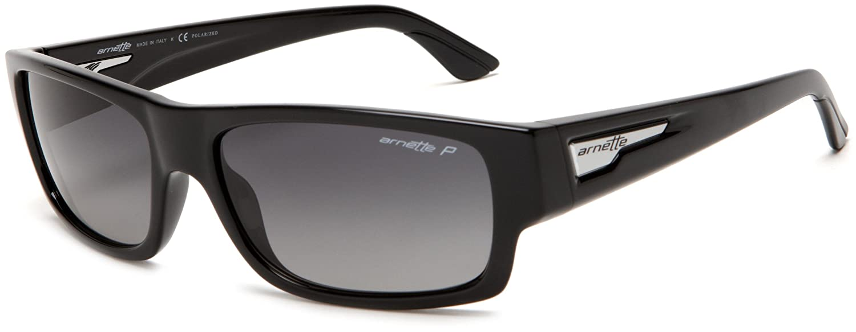 b7e5190deb Amazon.com: Arnette Men's Wager Polarized Sunglasses,Gloss Black ...