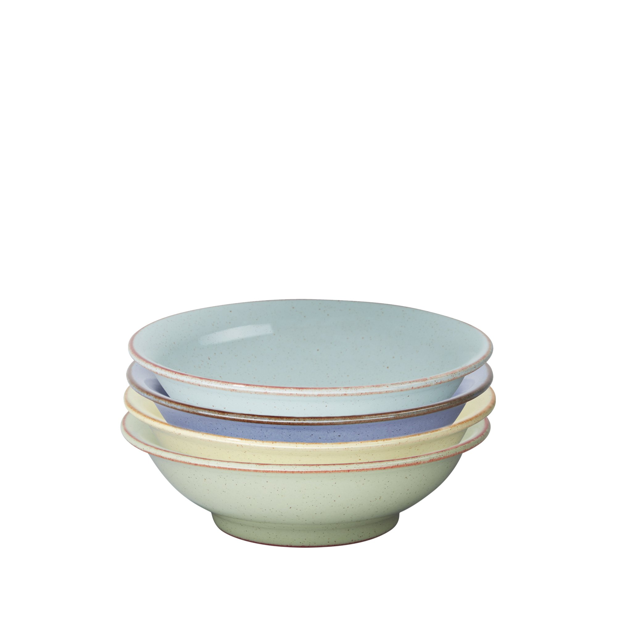 Denby USA Heritage Assorted Small Shallow Bowls (Set of 4), Multicolor