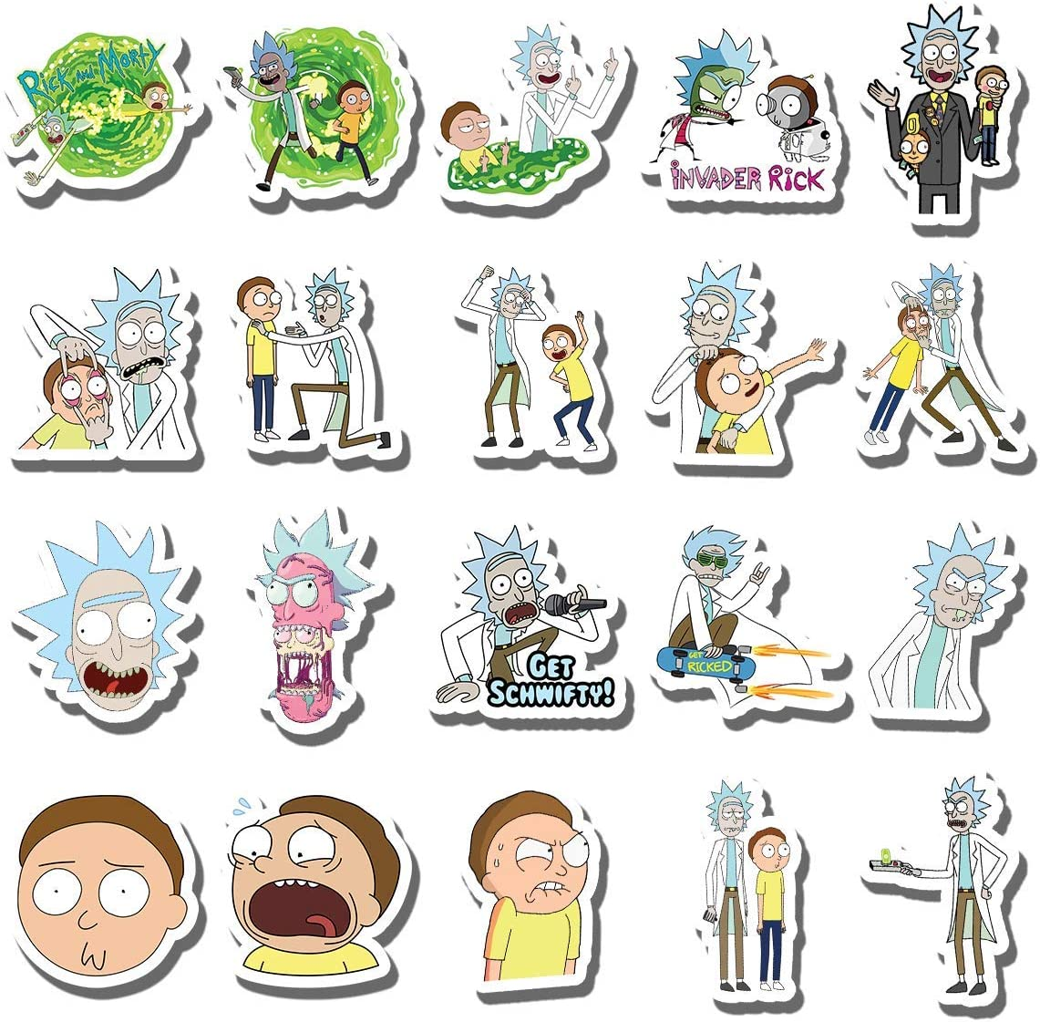 SIKOMOLE® Stickers Decal For Snowboard Laptop Luggage Car 50pcs Drama Rick/&Morty