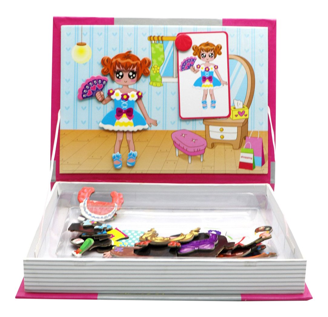 Little Treasures 54-Pcs Magnetic Dress-Up Set Fashion girl series dress up baby Toy Book for Kids Ages 3 Plus B01H7CMQ9Q