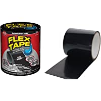 Shopper52 Strong Rubberized Waterproof Flex Tape Instantly Stops Leaks Sealer Tape Black Color 4 Inch X 5 Feet - FLEXTAPE
