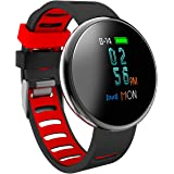 Blood Pressure Bracelet Fitness Tracker - Homestec I10X Colourful Screen Smart Watch with SPO2H Heart rate monitor Sleeping Management Pedometer with OLED Touch Screen for Android iOS