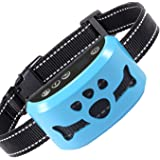 Dog No Bark Collar with Smart Detection Vibration and Harmless Shock- Rechargeable Anti Barking Device for Small Medium…