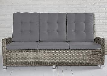 Hervorragend 3 Sitzer Gartensofa Rabida Champagner Loungesofa Sofa Gartenmöbel  Living Sofa Polyrattan