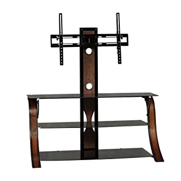 Amazon Com Sauder 413906 Veer Panel Tv Stand With Tv Mount For