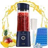 HomeGeek Portable Blender, Shaker Smoothie Maker, Personal Juicer, 4000 mAh USB Rechargeable Cordless, BPA-Free, 6…