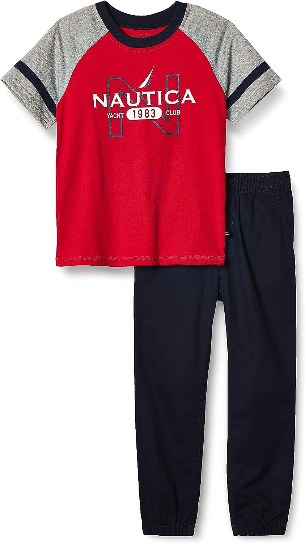 New sales Limited time cheap sale Nautica Baby Boys' 2 T-Shirt Pieces Pants Set