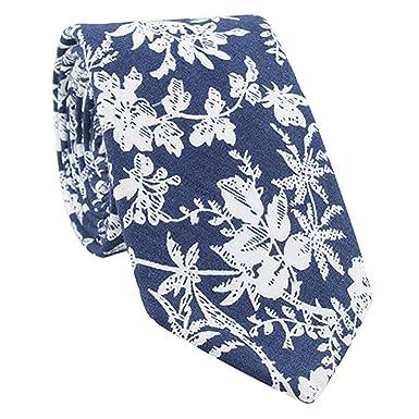 ZOYLINK Corbata Estampada Floral Para Hombre Corbata De Algodón De ...