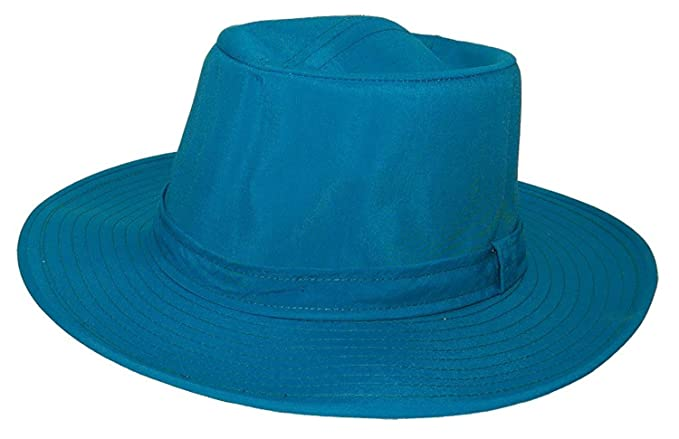 VINTAGE Retro Rain Proof Sunblocking Fedora HAT - MADE IN THE USA (Teal) f4aff619aa9