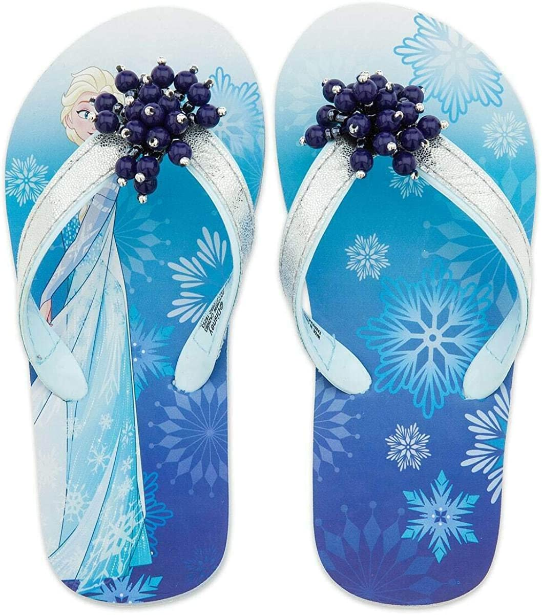 9-10 or 11-12 DISNEY FROZEN 2 Light-Up Flip Flops Beach Sandals NWT Sz 5-6 7-8