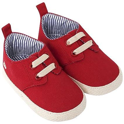 JoJo Maman Bébé D2207RED1218 - Alpargatas bebé, rojo