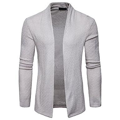 LIN Jacke Herren Herren Frühling Lässig Solide Strickjacke Strickwaren  Mantel Jacke Men s Spring Cardigan db60e5a822