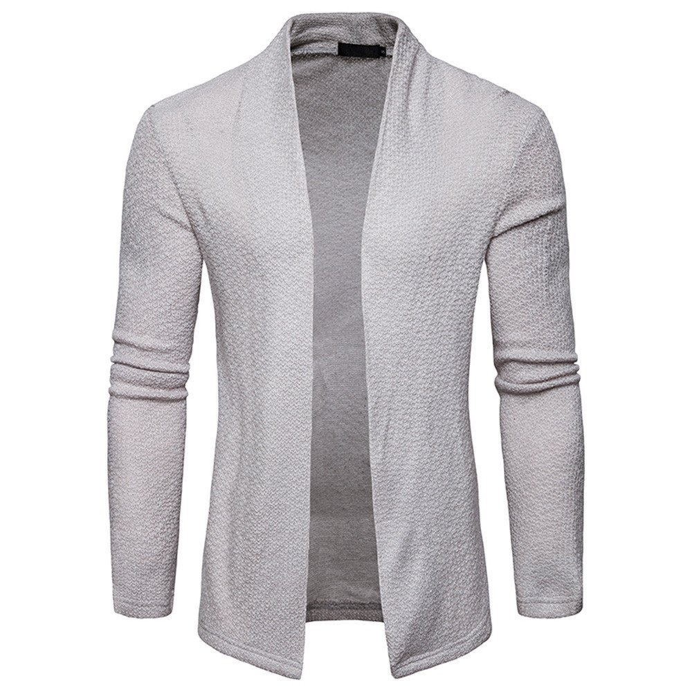 Men's Spring Casual Thin Coat Sweater top Solid Cardigan Knit Knitwear Coat Jacket