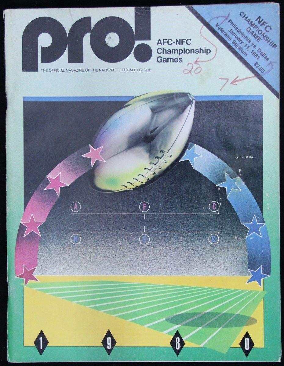 1980 Pro Magazine Eagles vs. Cowboys NFC Championship Game 127618