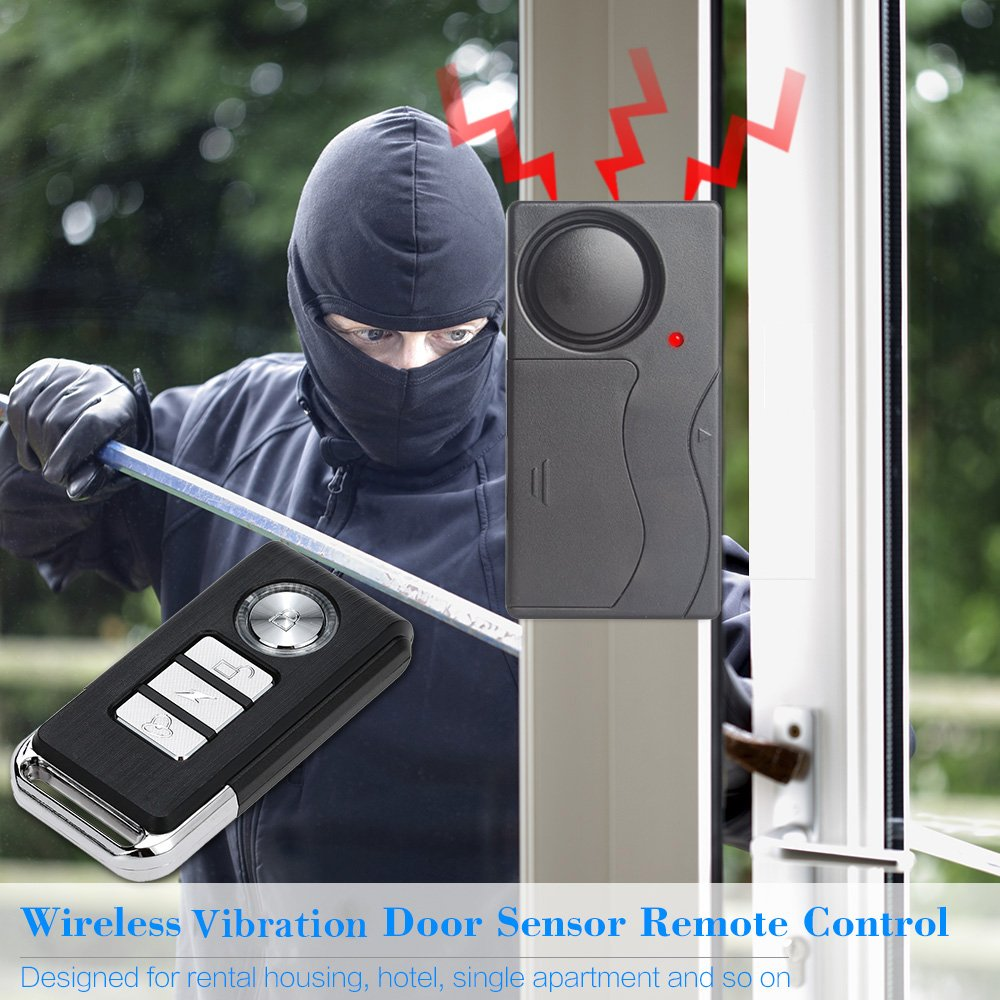 Mengshen Vibration Sensor Alarm with Remote Control for Door Window Bike Motorcycle MS-Z07 by Mengshen (Image #2)