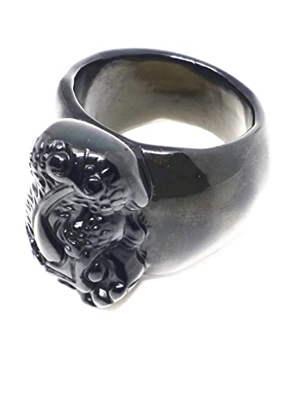 vari stili bellezza fashion style ossidiana nera naturale protezione amuleto mens anello ...