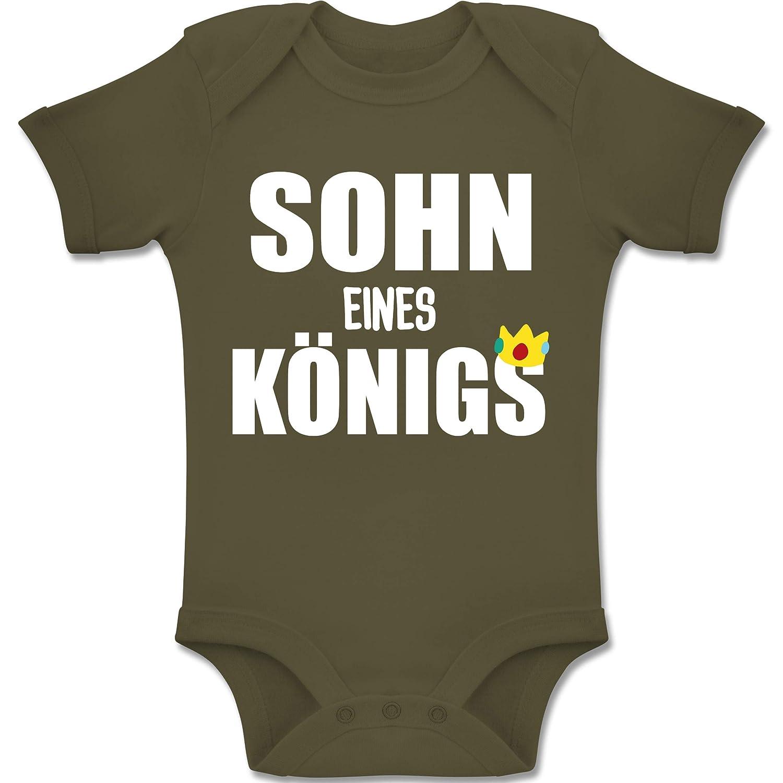 Baby Body Kurzarm Jungen M/ädchen Sohn eines K/önigs Shirtracer Partner-Look Familie Baby