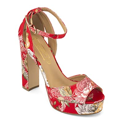 b91bff2380b TRUFFLE COLLECTION Pink Floral Print Block Heel Sandals  Buy Online at Low  Prices in India - Amazon.in