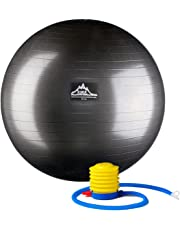 Black Mountain Products Professional Grade Pro Series 1000Lbs AntiBurst and 2000Lbs Static Weight Capacity Exercise Stability Ball